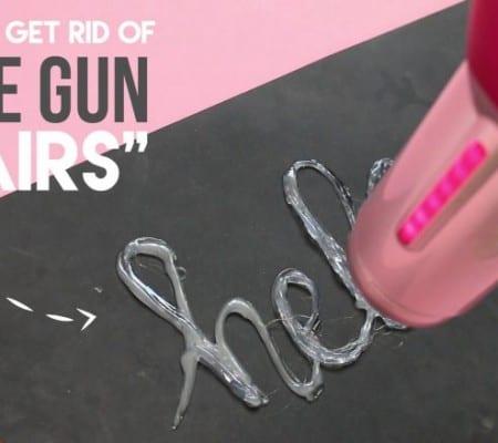 hot glue gun hairs