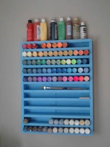craft paint storage ideas paint storage and organization roundup a and a glue gun 4006
