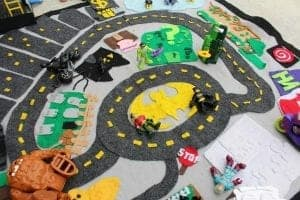 Throwback Thursday–felt batman activity mat.