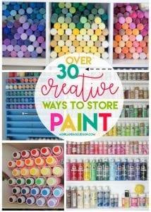 Paint storage and organization roundup