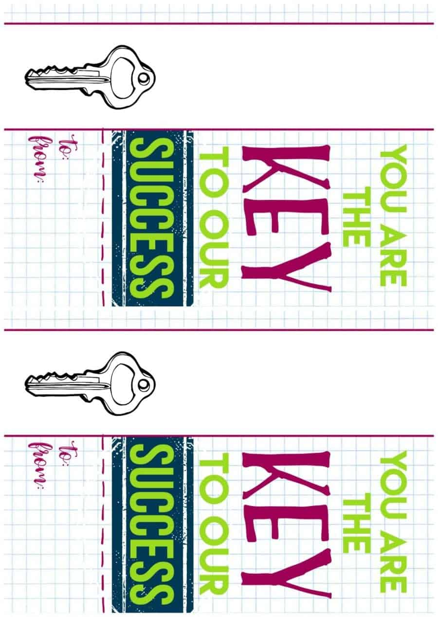 Key To My Success Printable Round Two A Girl And A Glue Gun
