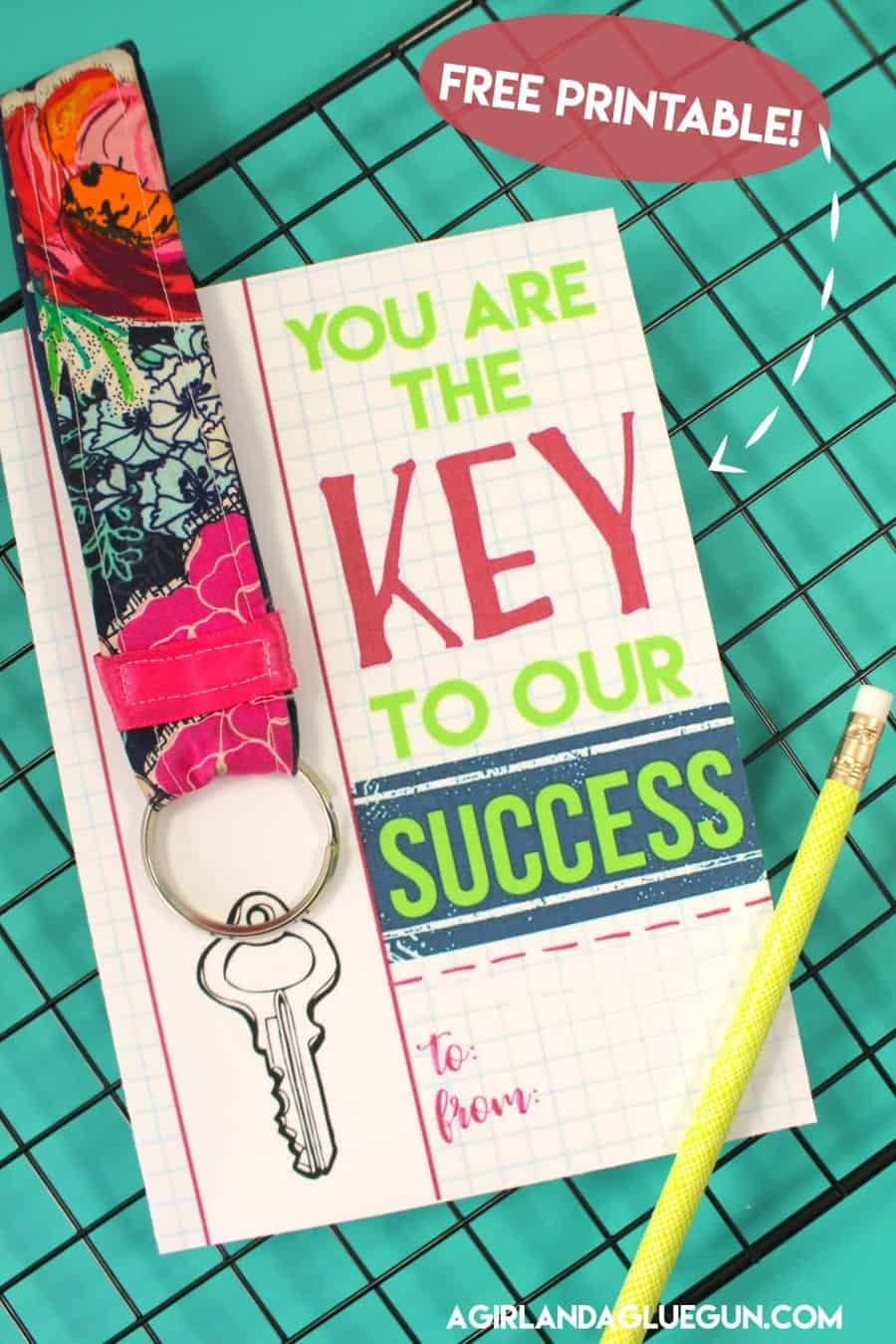 Key To My Success Free Teacher Printables With Keychain