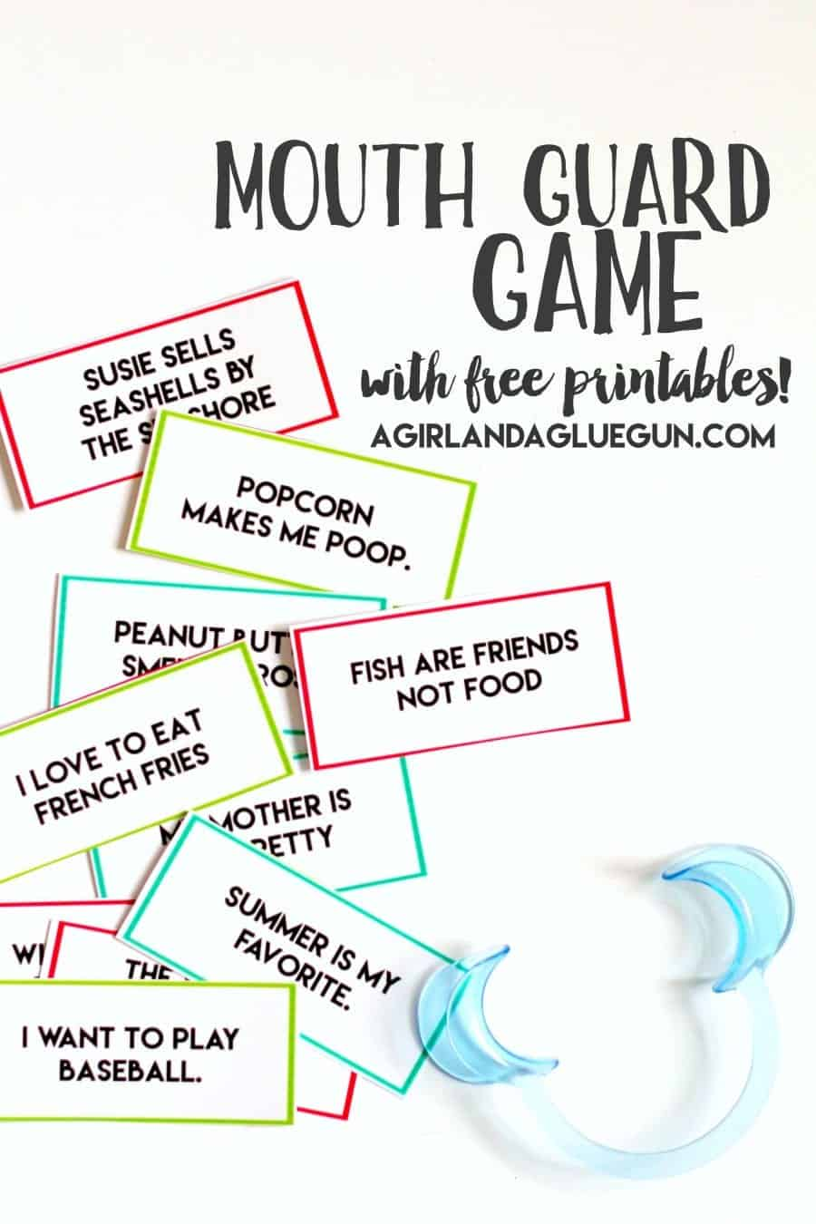 photo regarding Watch Ya Mouth Printable Phrases named Mouth secure sport with no cost printables! - A female and a glue gun