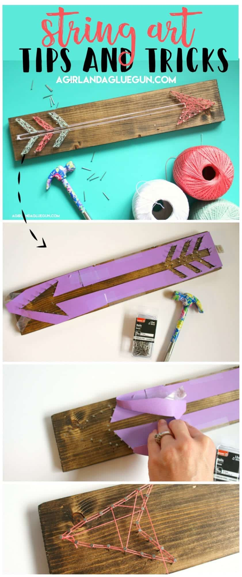 How To Do String Art Tips And Tricks A Girl And A Glue Gun