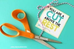Cut above the rest Teacher printable