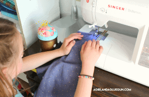 Washi tape as a sewing guide