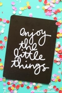 enjoy the little things–free cut file