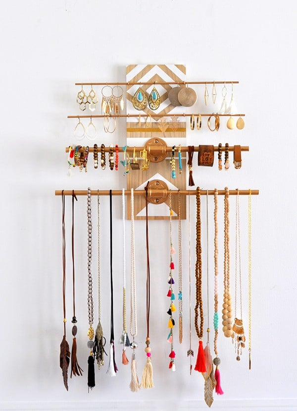 over 50 ways to organize your Jewelry - A girl and a glue gun