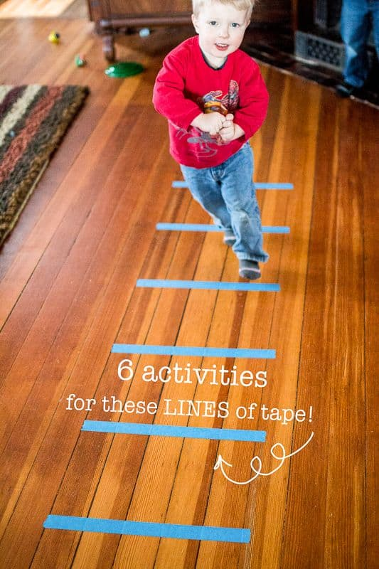 Over 40 Painters Tape Games and Activities A girl and a