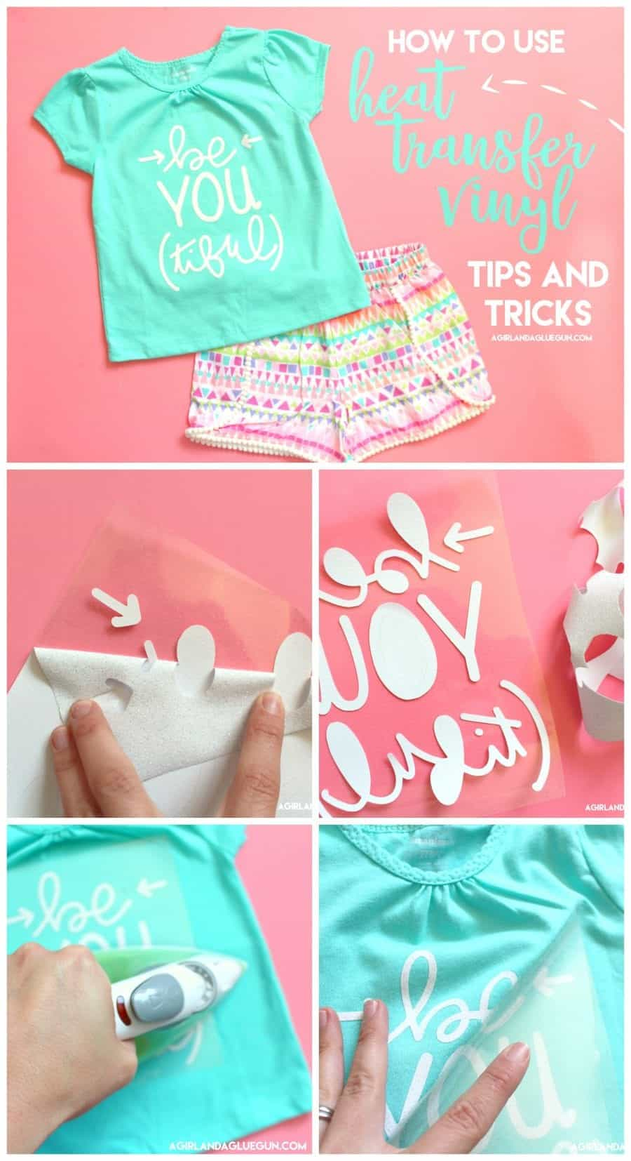 How to use heat transfer vinyl-hand holding tutorial - A girl and ...
