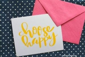 Choose happy free cut file