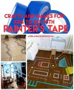 Over 40 Painters Tape Games and Activities