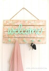 DIY Floral Welcome Sign