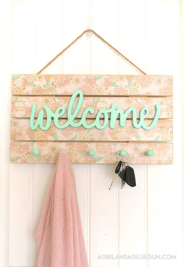 Diy Floral Welcome Sign A Girl And A Glue Gun