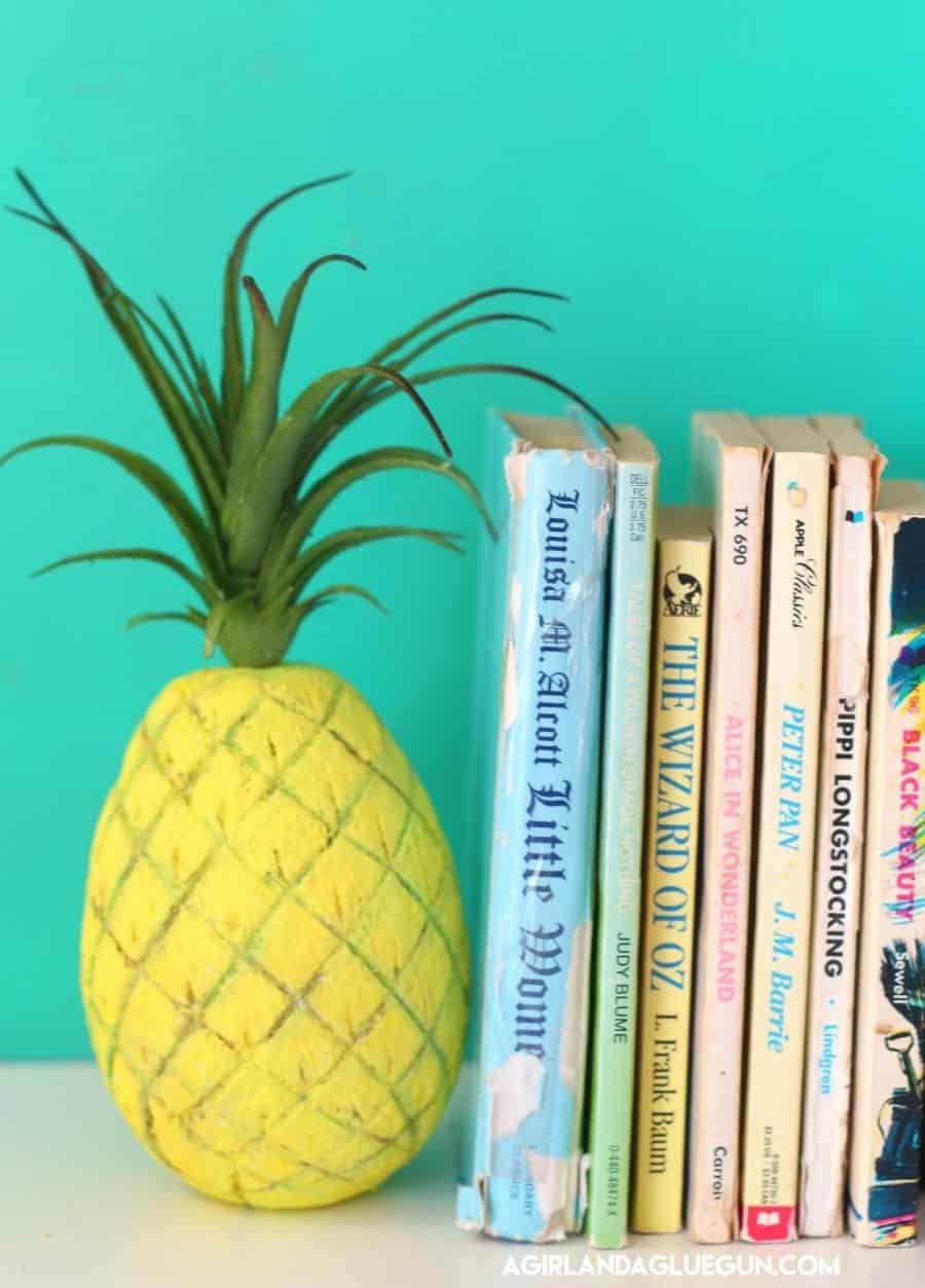 create your own pineapple decor a and a glue gun