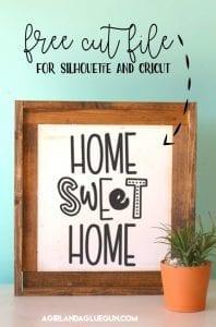 Home sweet home free cut file