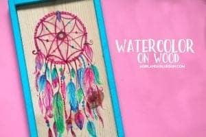 Watercolor onto wood.