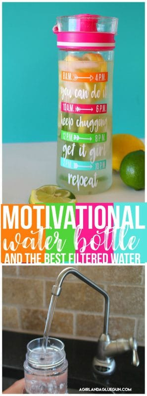 Motivational water bottle and the best filtered water A girl and a