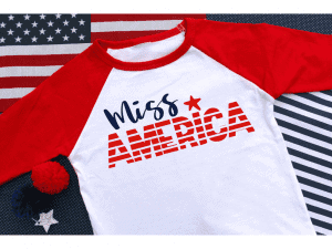 Free Patriotic cut files–Miss America