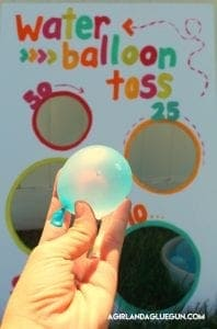 Water balloon toss–fun summer game