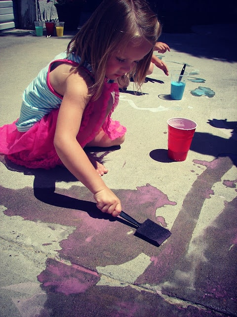 Painting Activities For Kids A Girl And A Glue Gun