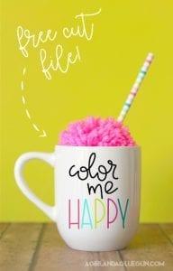 Color me Happy free cut file!
