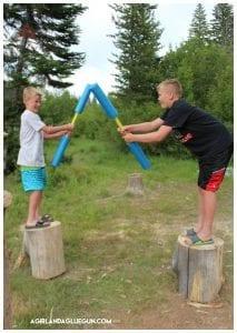 Pugil sticks DIY and camping game!