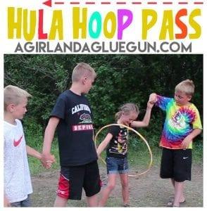 Hula Hoop Pass–fun activity