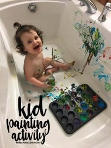 Kid painting activity