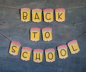 Back to school banner printables