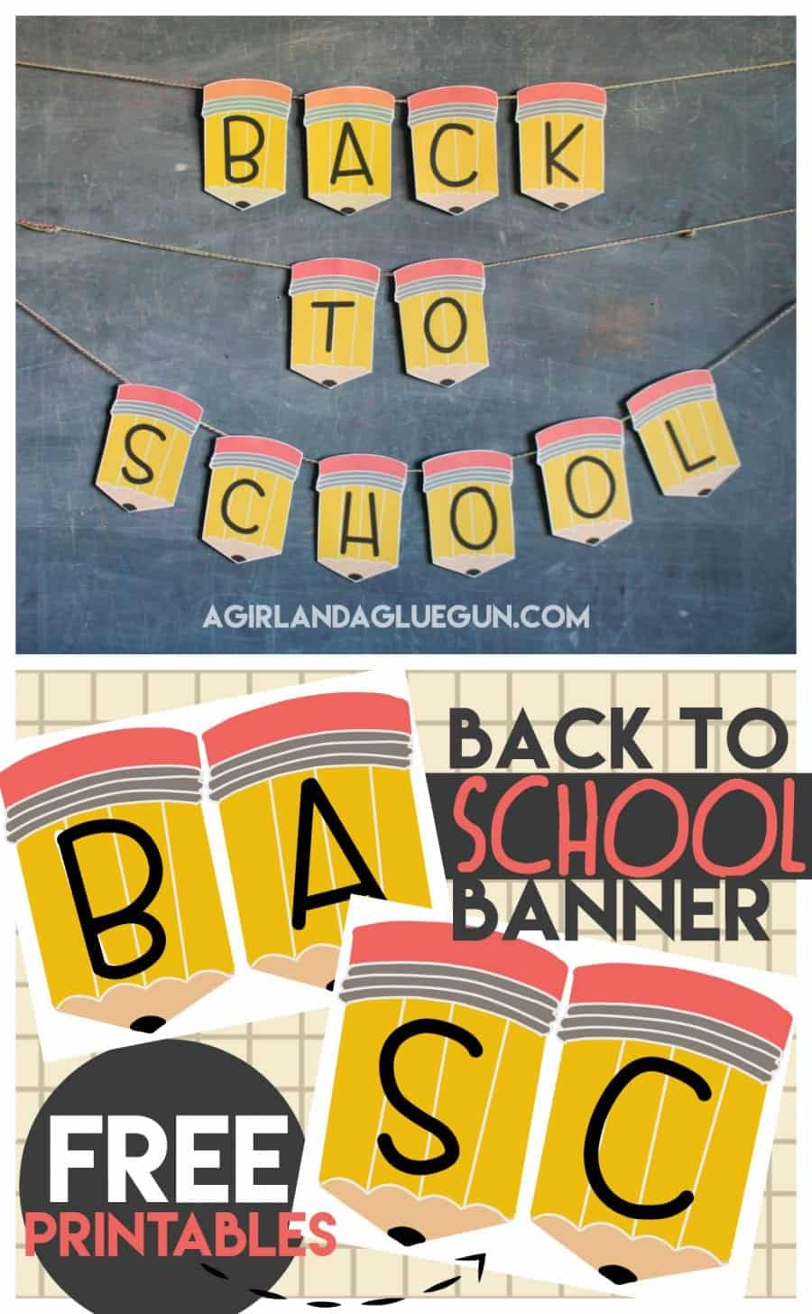 Back To School Banner Printables A Girl And A Glue Gun