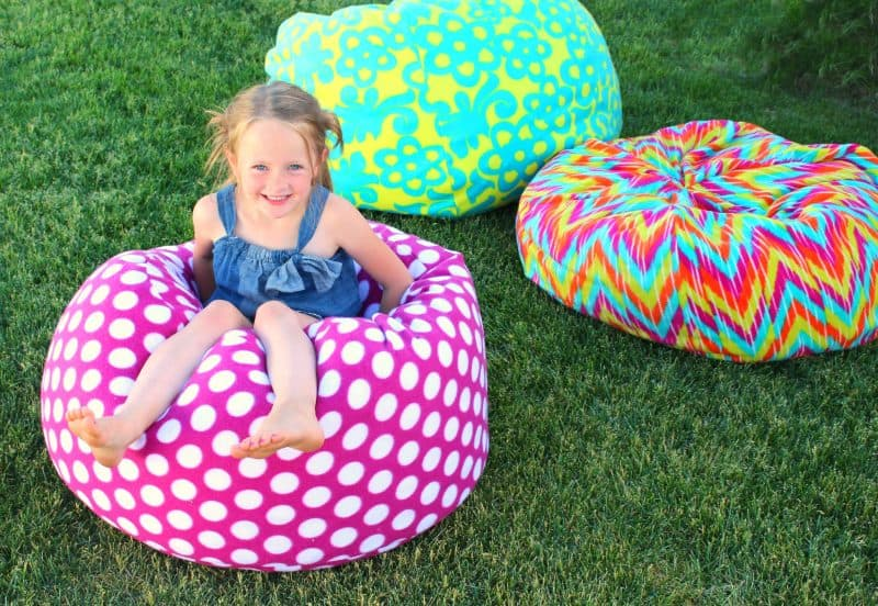 How To Make A Bean Bag Chair A Girl And A Glue Gun