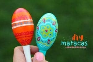 Decorated maracas