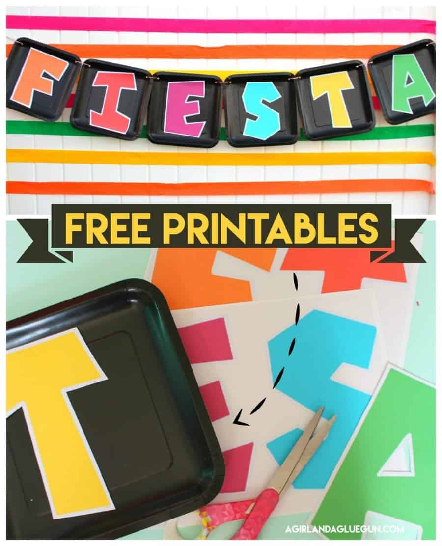 Fiesta Printables A Girl And A Glue Gun