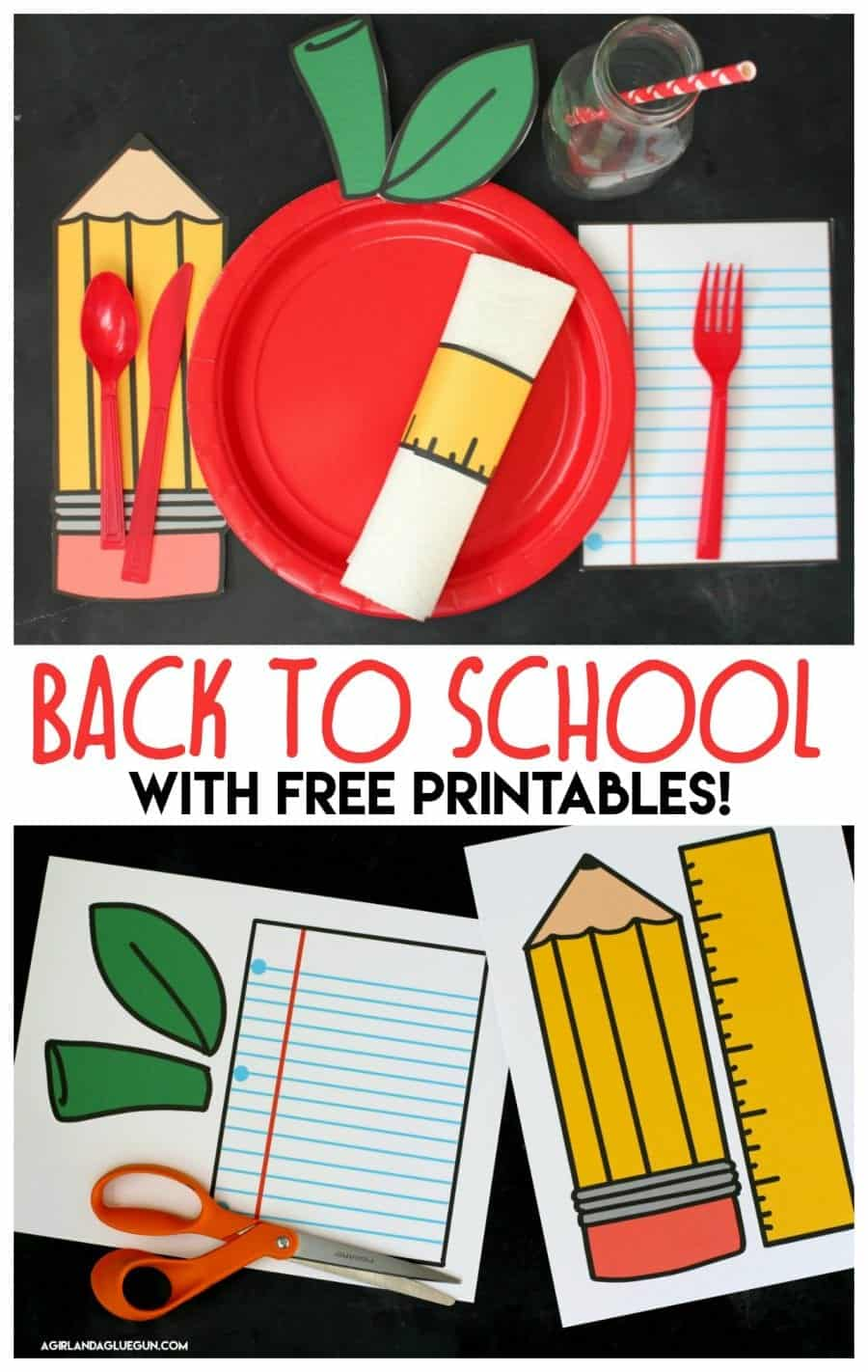 back to table settings with free printables a and a