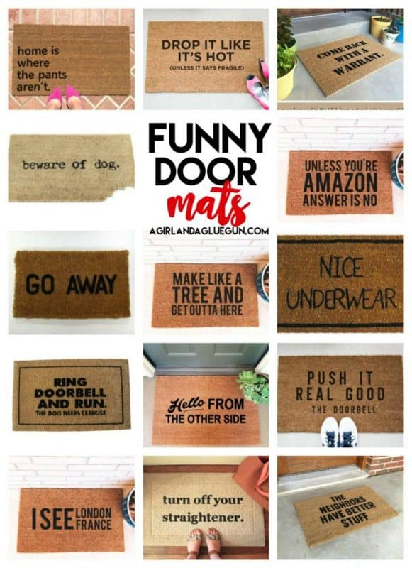 How To Stencil And Paint A Door Mat A Girl And A Glue Gun
