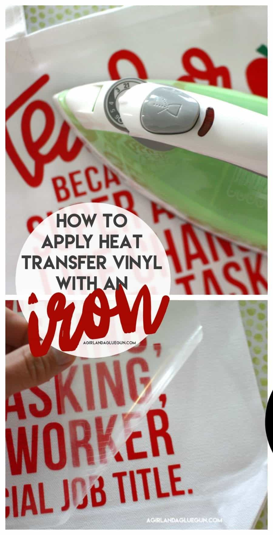 How To Apply Heat Transfer Vinyl With An Iron A Girl