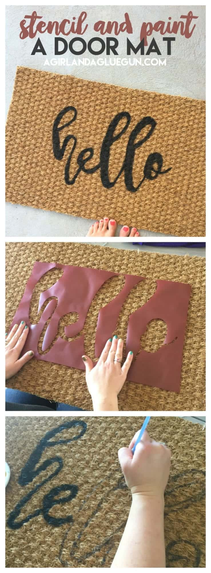 How To Stencil And Paint A Door Mat