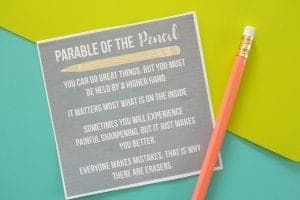 Parable of the Pencil Printable