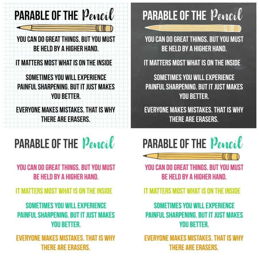 Parable Of The Pencil Printable A Girl And A Glue Gun