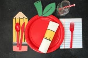 Back to school table settings with free printables