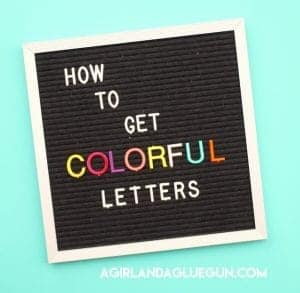 How to get colorful letters for your Letterboard!
