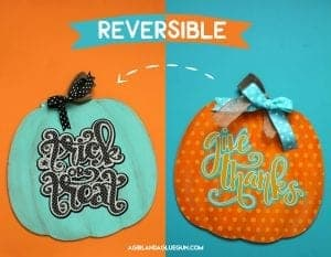Double sided pumpkin for fall free cut file