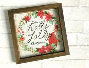 Christmas sign Hack using gift bags