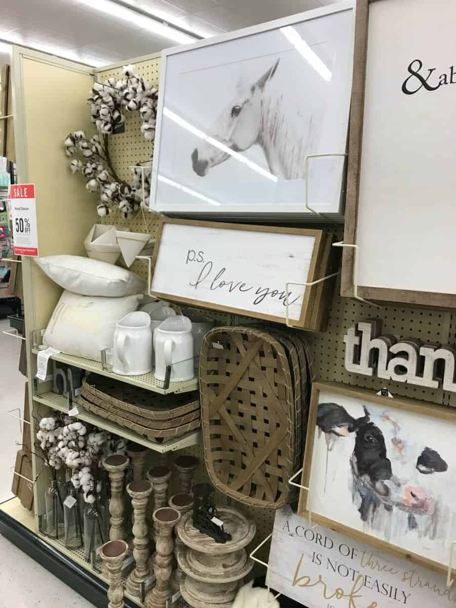 If you love fixer upperdont you worry hobby lobby has aisles that is chock full of the farmhouse goodness