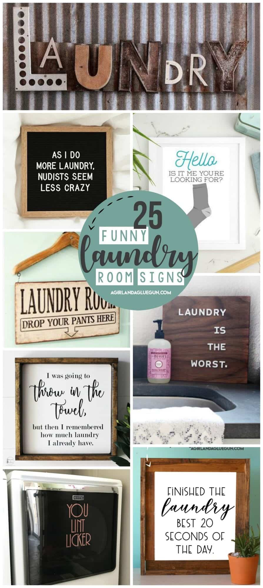 Laundry Room Signs A Girl And A Glue Gun