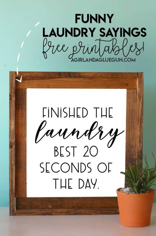 Free Laundry Room Printables A Girl And A Glue Gun