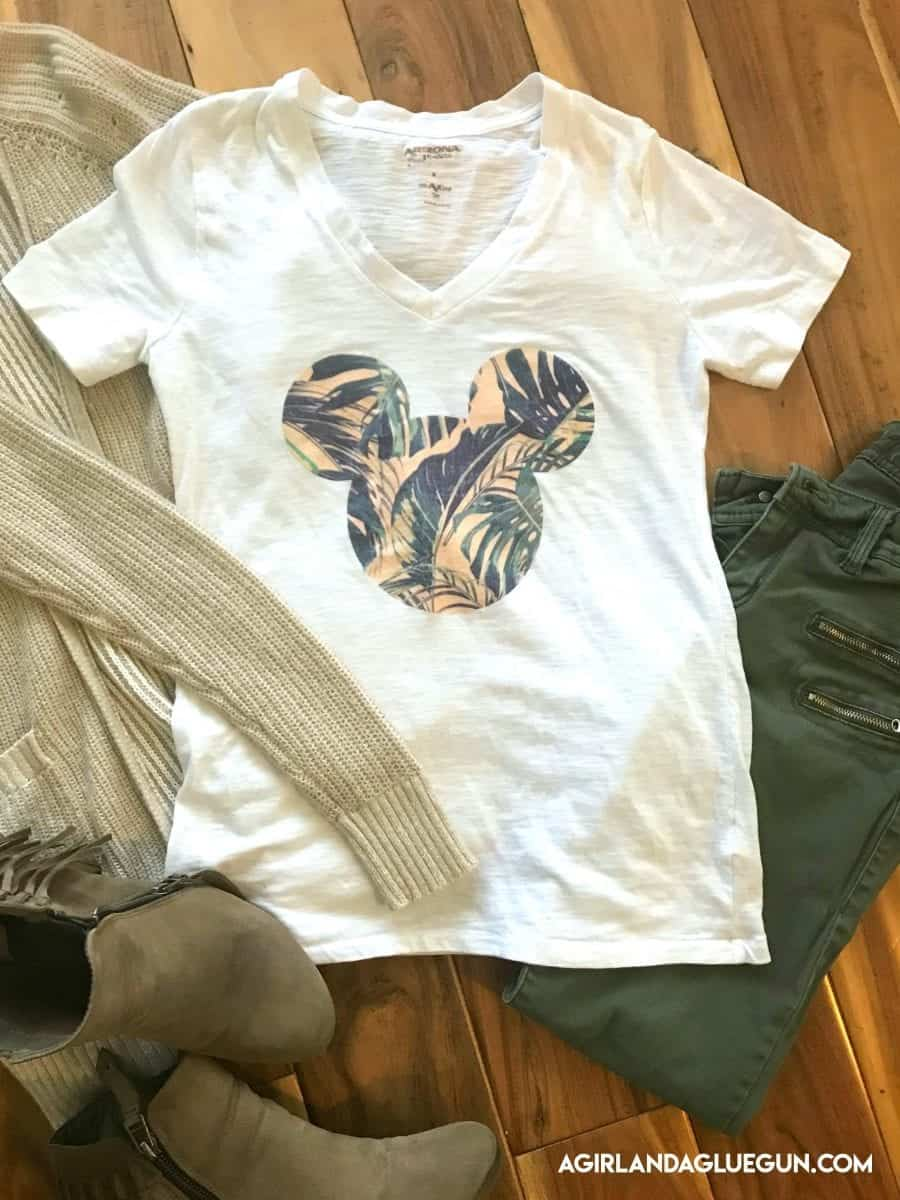 Diy A Disney Shirt With No Electronic Cutter A Girl And