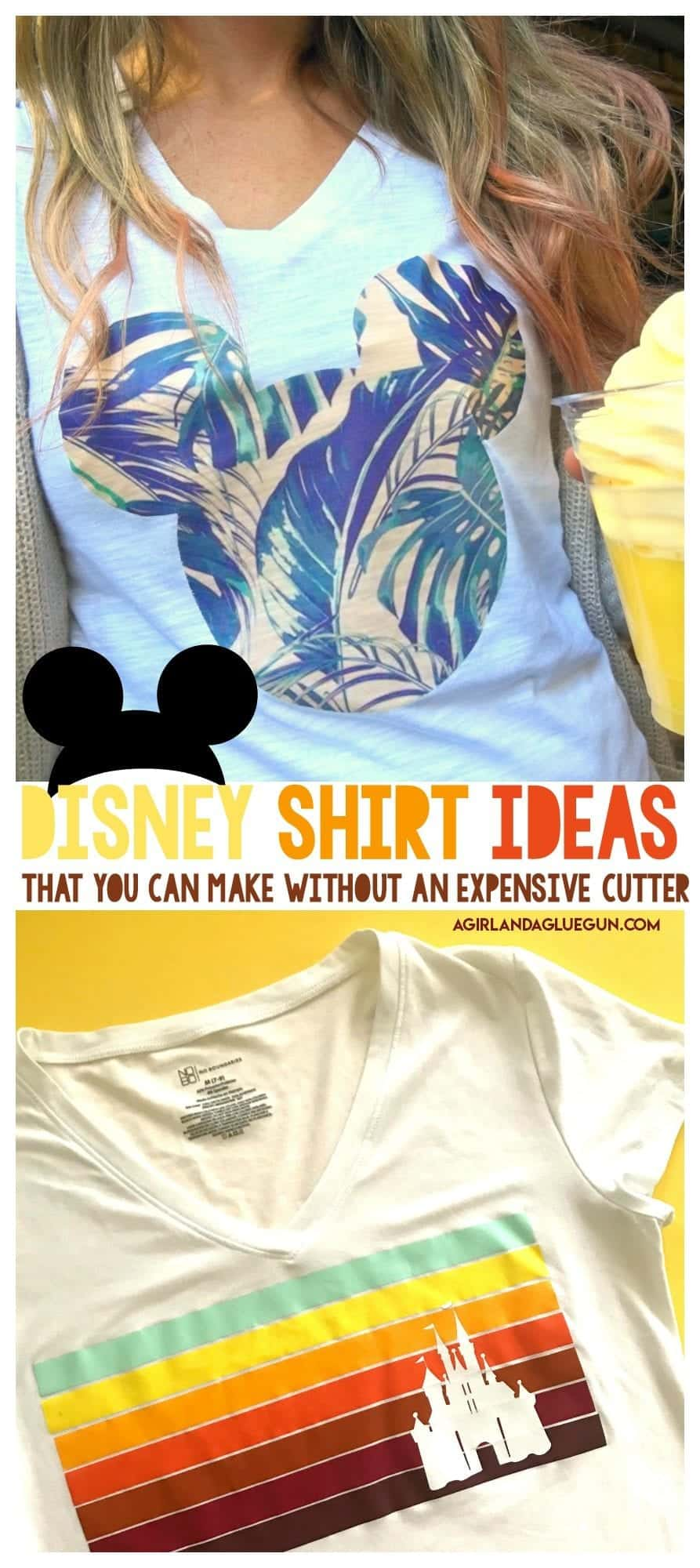 Diy A Disney Shirt With No Electronic Cutter A Girl And A