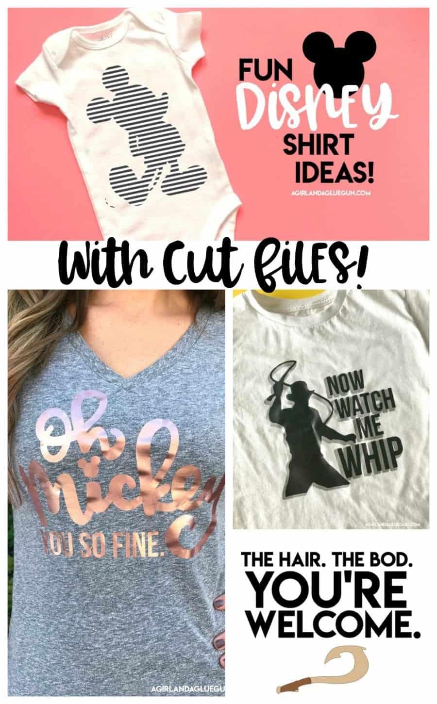Cute Disney shirt cut files! - A girl and a glue gun
